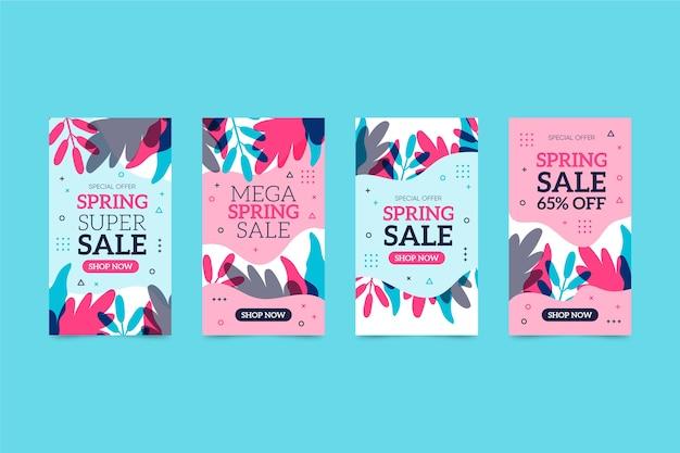 Набор историй о весенних распродажах в instagram