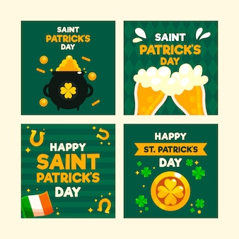 День святого патрика концепция для instagram пост