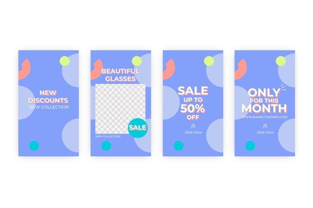 Абстрактная красочная коллекция рассказов продажи instagram