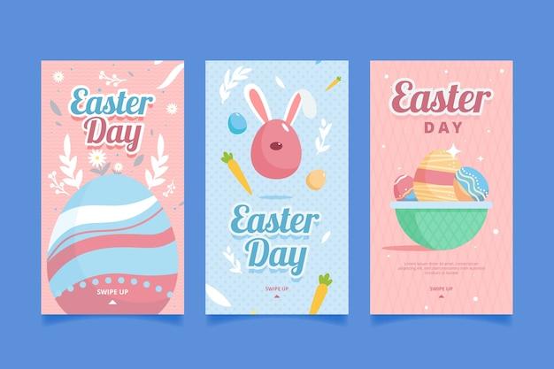 Счастливые пасхальные истории дня instagram с яйцами