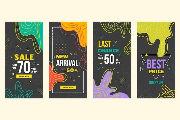 Абстрактный дизайн для историй продаж instagram