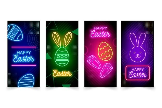 イースターの日instagramストーリーコレクションデザイン