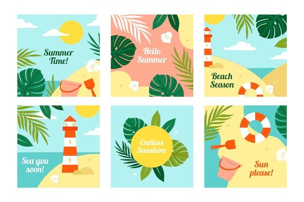 夏のinstagramポストコレクションデザイン