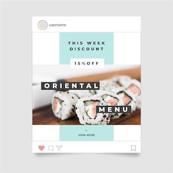 Концепция истории еды instagram