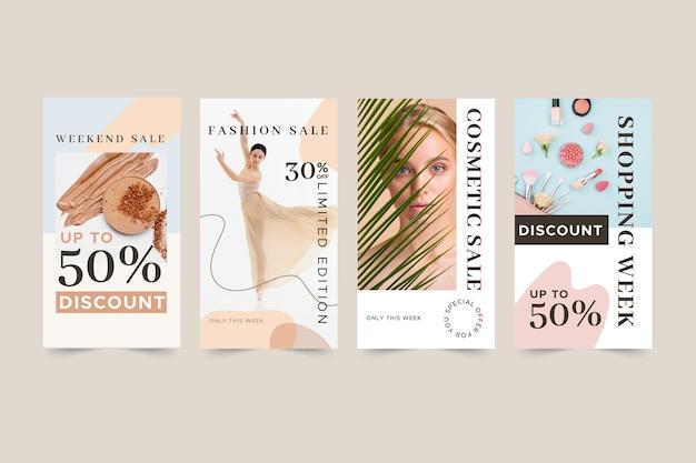 Коллекция историй продаж органического instagram