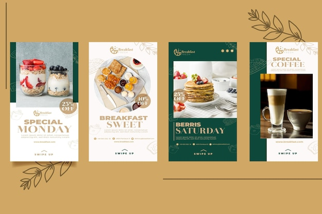 Сборник рассказов из instagram для ресторана для завтрака