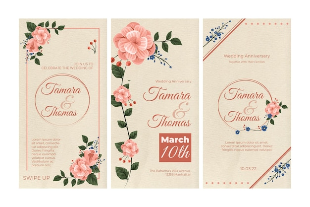 花の結婚式のinstagramストーリーコレクション