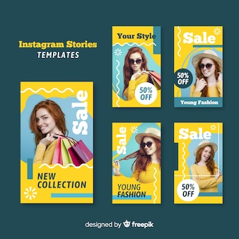 Модная распродажа коллекции рассказов instagram