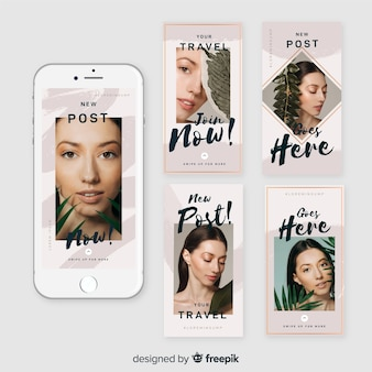 Набор шаблонов рассказов instagram продаж