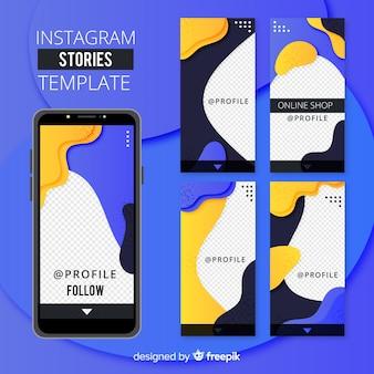Абстрактный шаблон истории instagram