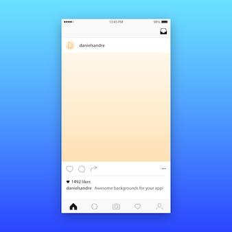 Макет шаблона почты в instagram