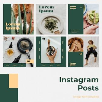 ミニマリズムソーシャルメディアinstagramのバナー