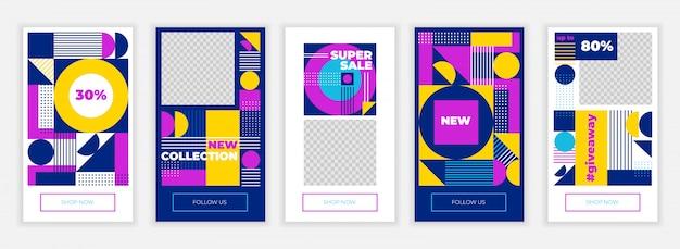 クリエイティブinstagramの物語デザインテンプレート