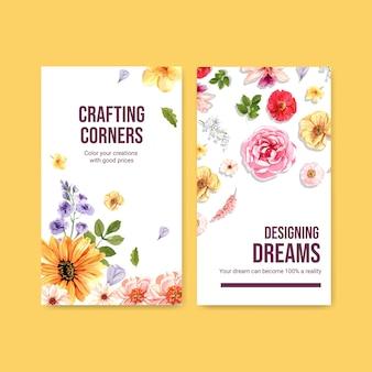 Шаблон истории instagram с летней цветочной концепцией дизайна