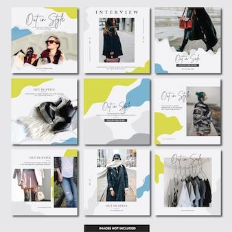 ソーシャルメディアinstagramのバナー(ファッション)