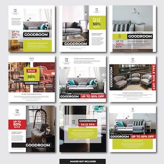 ソーシャルメディアinstagramのバナー(家具)