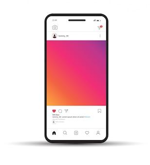 Instagram фоторамка шаблон.