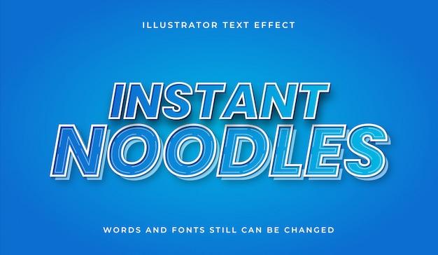 Instant noodles editable text effect