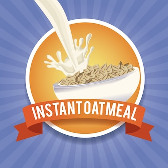 Instant oatmeal label