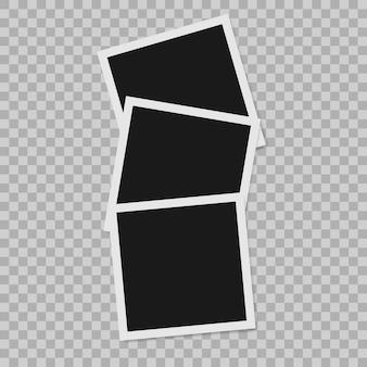 Instant photo border empty realistic photo frame