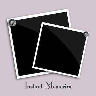 Instant photographs vector
