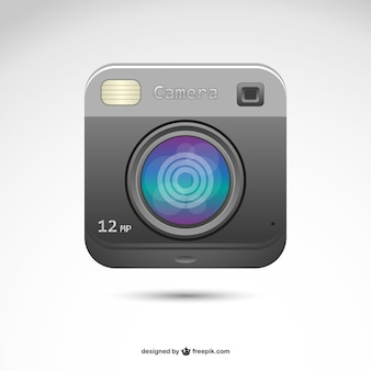 Instant retro photography logo