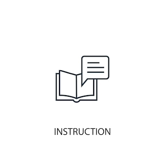 命令コンセプトラインアイコン。シンプルな要素のイラスト。命令コンセプト概要シンボルデザイン。 webおよびモバイルui / uxに使用できます
