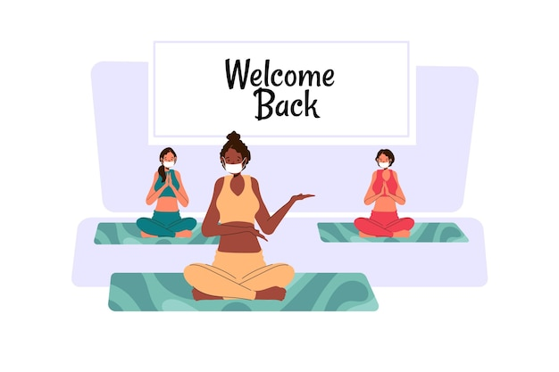 Instructor welcomes back to classes illustration