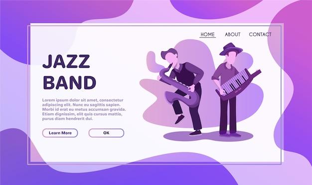 Instrumental ensemble performance flat illustration