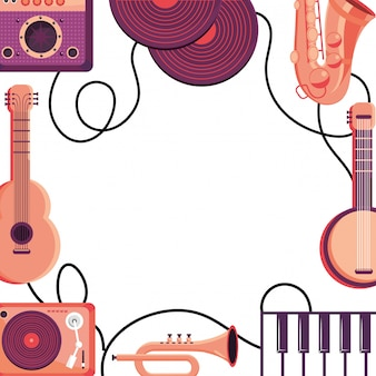 Instruments frame background design