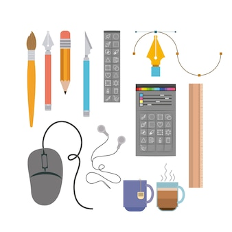 instruments to hand and multimedia design