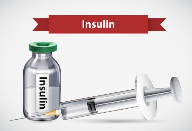An insulin on white background