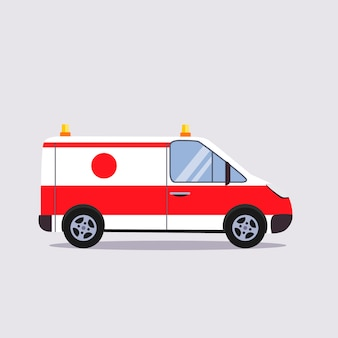 Insurance and ambulance illustration