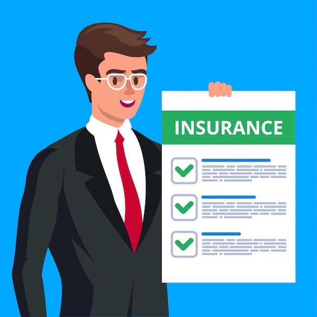 보험 청구 양식. 삽화