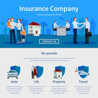Insurance company one page website
