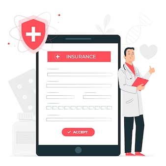 Insurance concept illustration