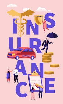 Плакат с концепцией страхования