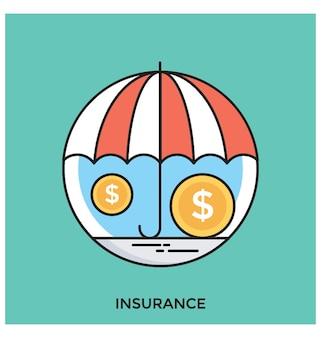 保険フラットベクトルアイコン