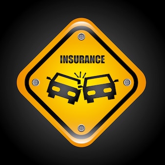 Insurance graphic design  vector illustration