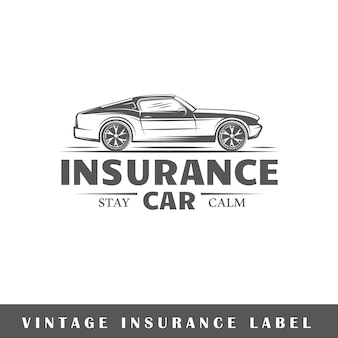 Insurance label isolated on white background. design element. template for logo, signage, branding design.