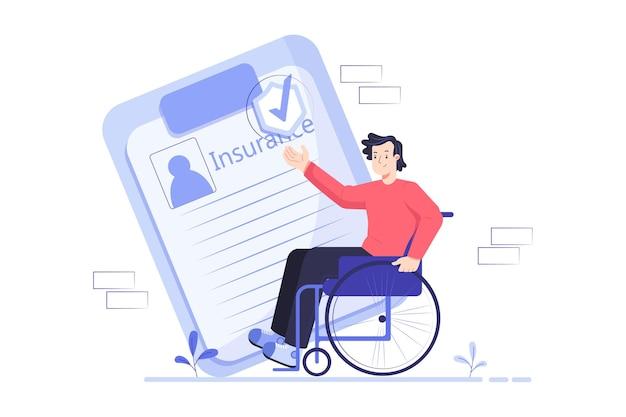 Иллюстрация страховой службы