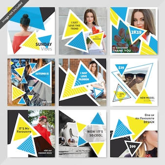 Intagram fashion social media опубликовать шаблон