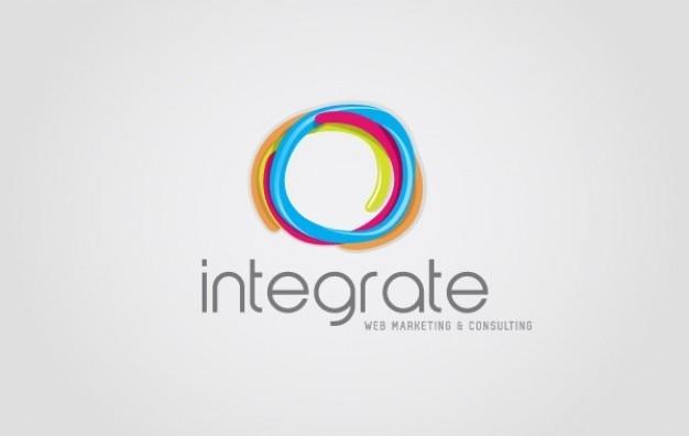 Integrate web logo vector