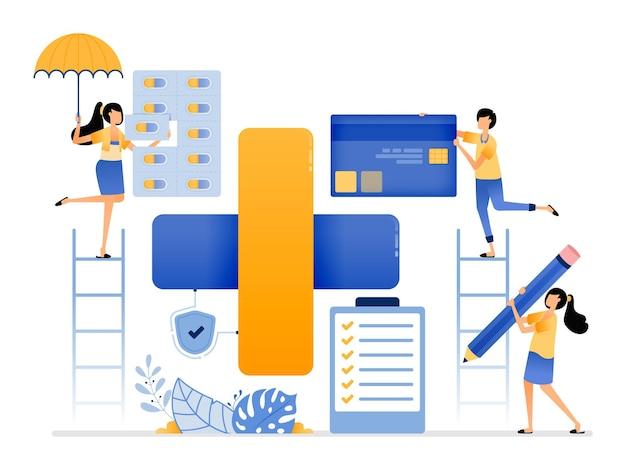 医薬品の安全な入手と支払いのための統合された健康保護と病院システム