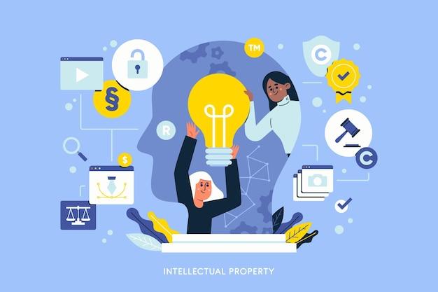 Иллюстрация интеллектуальной собственности