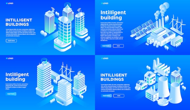 Intelligent building banner set.