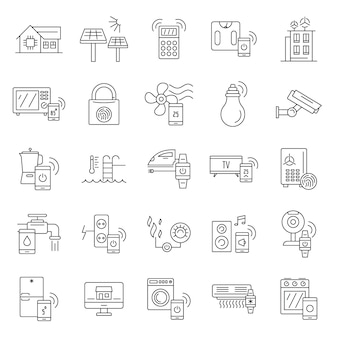 Intelligent building icon set