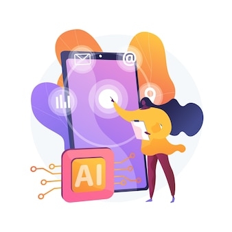 Intelligent interface abstract concept illustration