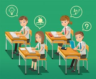 Intensive classroom education concept