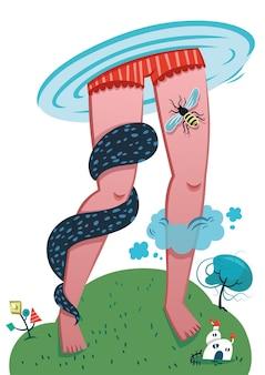 Inter dimensional vector illustration fantasy art